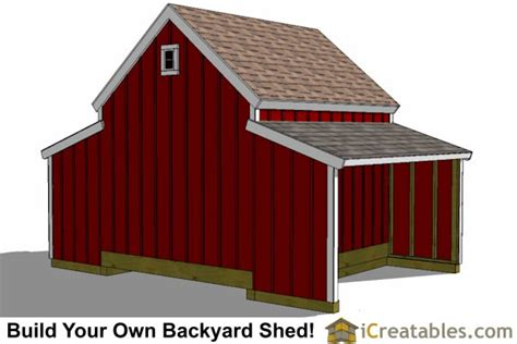 10x18 Shed by 10x18 Raised Center Aisle Small Barn Shed Plans Barn