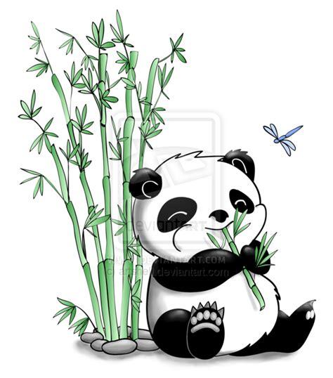 Panda Tattoo Cartoon   panda eating bamboo by artshell deviantart com on