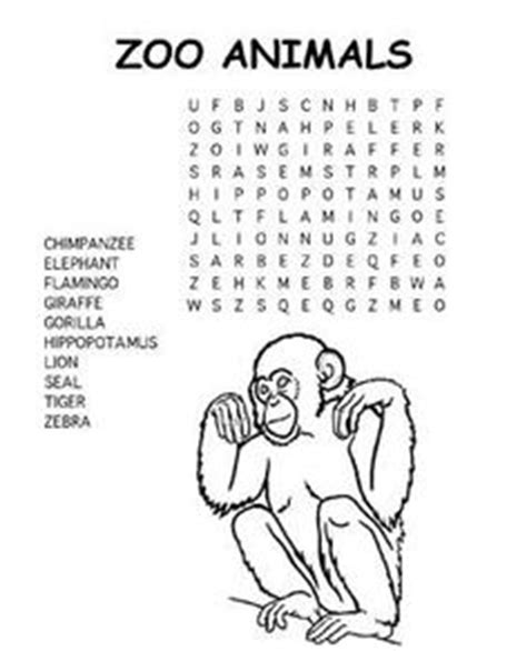 jungle animal word search activity printables 1000 images about puzzlers on pinterest word search
