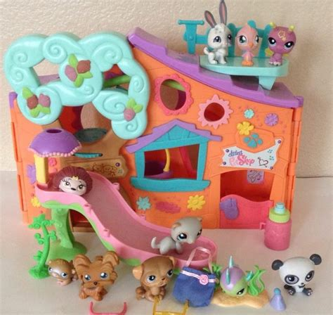 littlest pet shop houses littlest pet shop clubhouse orange tree house panda bunny dog lps lot great stuff on