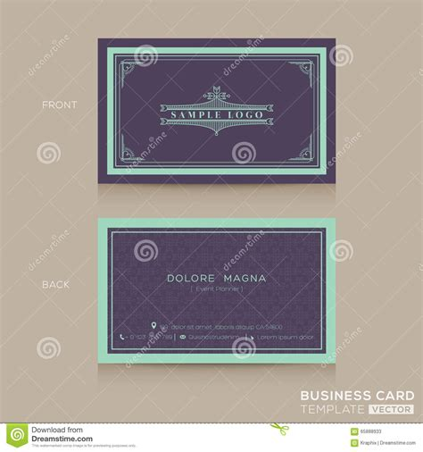 classic business card template free classic vintage business card namecard template stock