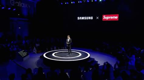 samsung partners with exclusive clothing brand supreme of