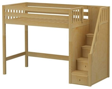 maxtrix staircase loft bed slat high mid