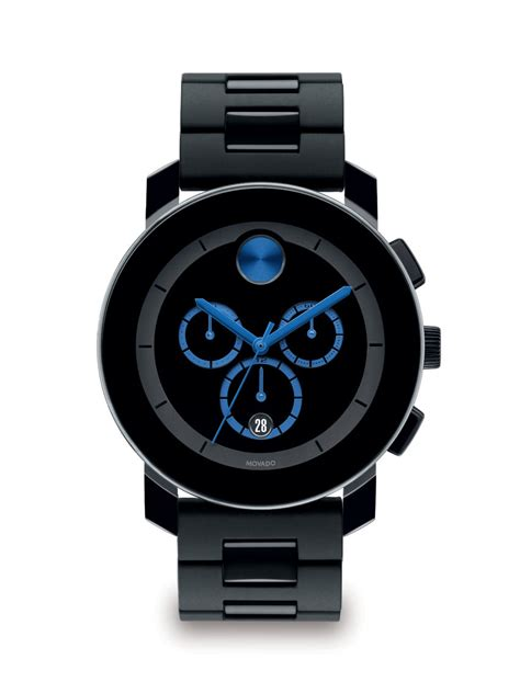 Designer Ipad Case by Movado Large Bold Chronograph Watch In Black For Men Lyst