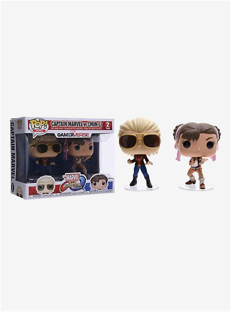 Funko Pop Marvel Vs Capcom Infinite Captain Marvel Vs Chun Li funko marvel vs capcom infinite pop captain marvel vs chun li vinyl figure set topic