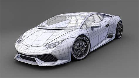 Lamborghini 3d Model Free by Lamborghini Huracan Lp 610 4 3d Model Obj 3ds Fbx Lwo Lw