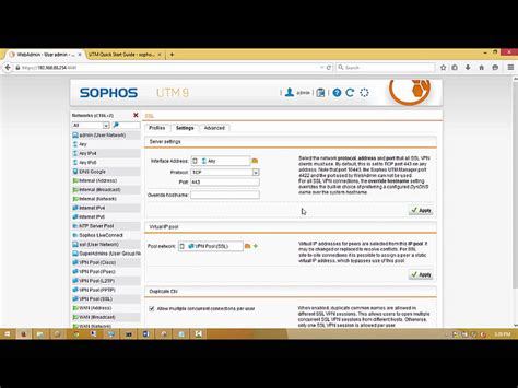 tutorial sophos utm 9 sophos utm ssl vpn client to site step by step