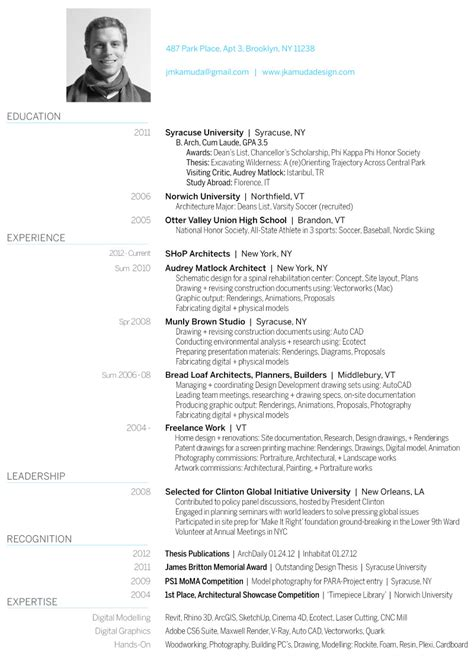 Best Latex Resume Template by Curriculum Vitae Architecture Design Portfolio