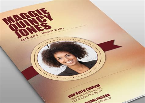 Live Strong Funeral Program Template Free Funeral Program Template Photoshop