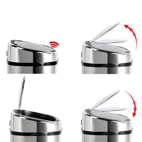 Automatic L Sensor by L Motion Sensor Stainless Steel Rubbish Bin Automatic
