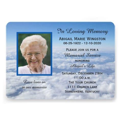 memorial invitation templates free 1 000 memorial service invitations memorial service