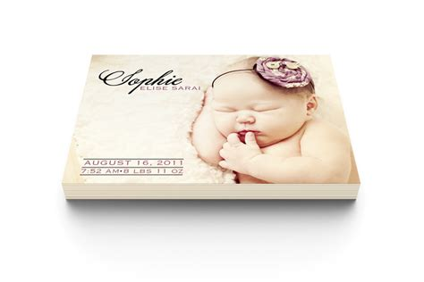 simple birth announcement modern moments