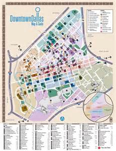 Dallas Downtown Map by Downtown Dallas Map And Guide Wayfinding Maps