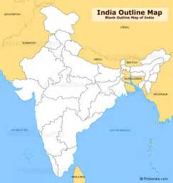 India Physical Map Outline In A4 Size by Blank Map Of Indian States
