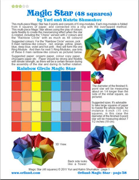Origami Magic Diagram Pdf - oriland oriland magic