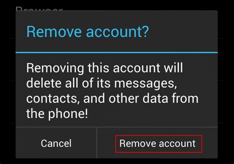 remove account from android how to change the primary gmail account of an android device without performing a factory reset
