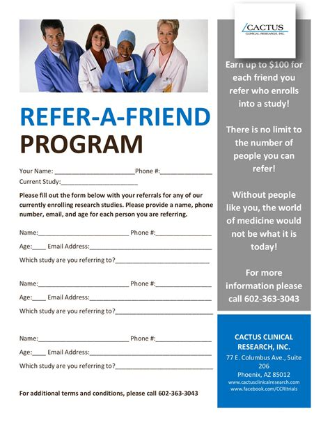refer a friend email template cactus clinical research refer a friend