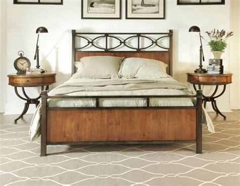 wood and metal bed american drew 204 398 new river 6 6 metal wood bed