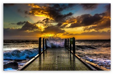 waves  hd desktop wallpaper   ultra hd tv tablet