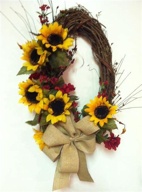 Sunflower Door Wreath by Burlap Wreath Sunflower Wreath Fall Wreath Door