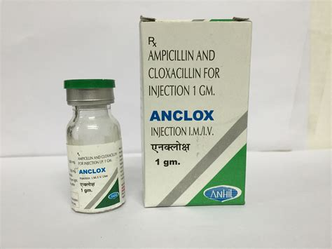 injection volume 1 injection cloxacillin injection 1gm anhil parenterals