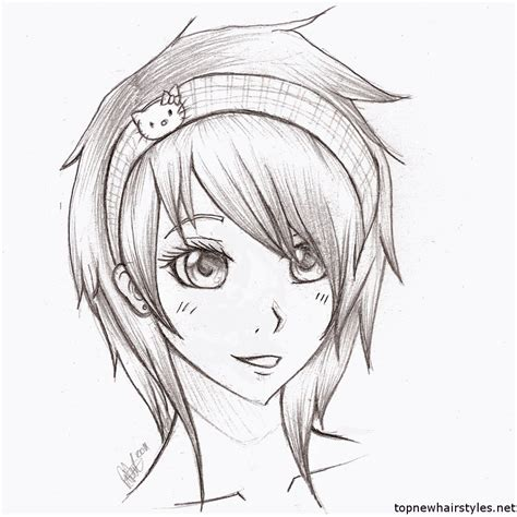 hairstyles drawings easy anime hairstyles for girls sketch art pinterest