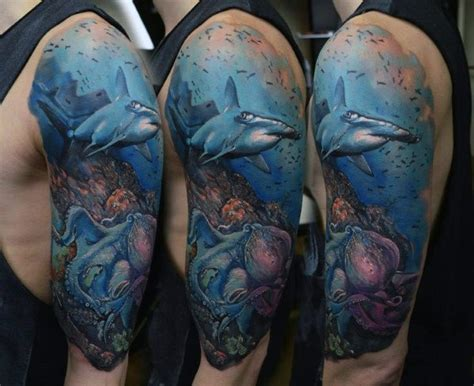 ocean tattoo sleeve 40 sleeve tattoos for underwater ink design ideas