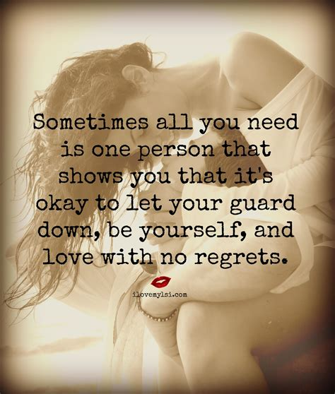 how to your to guard you let your guard be yourself and with no regrets