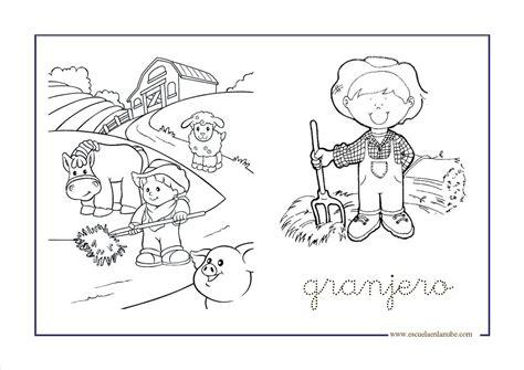 imagenes animales de la granja para colorear granja1 para colorear pinterest granjas la granja y