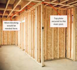 how to frame your basement what is blocking why do i need blocking when framing a