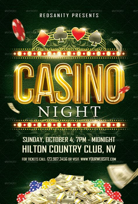 Ultimate Casino Night Flyer Casino Infographics Casino Flyer Template Free