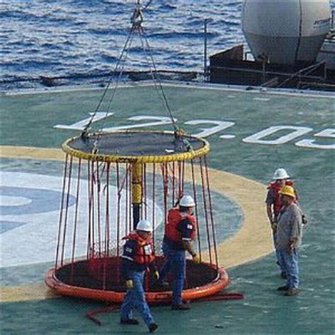 swing rope offshore personnel basket transfer