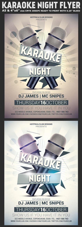 flyer template karaoke night party karaoke night flyer template flyerstemplates