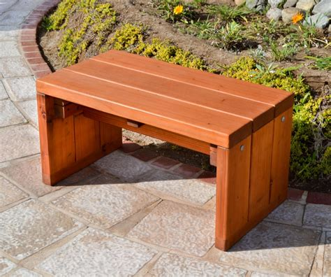 Outdoor Wood Bench Outdoor Wood Garden Bench Forever Redwood