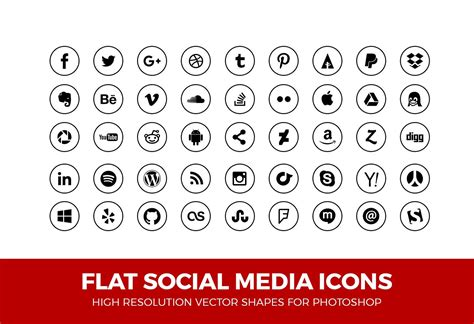 Social Media Icons For Business Cards