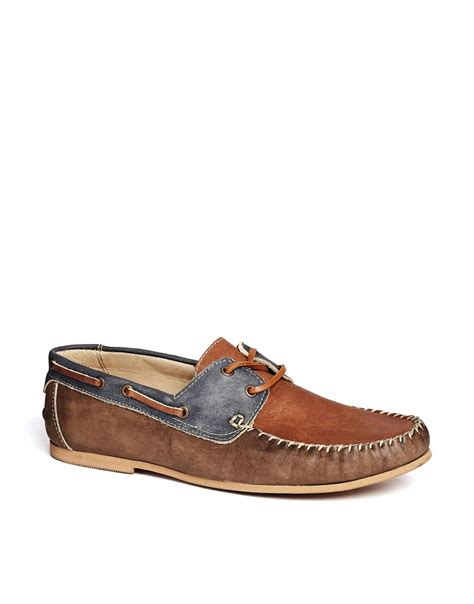 asos loafers asos asos loafers in washed leather at asos