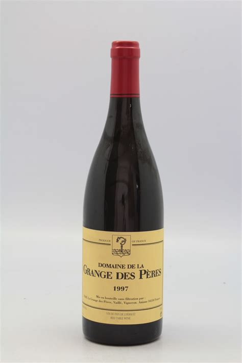 domaine grange des peres grange des p 232 res 1997 vins millesimes