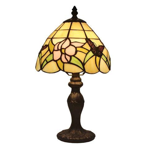 mini tiffany style ls amora lighting 15 in tiffany style floral mini l