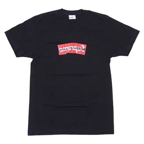 buy cheap supreme clothing x cog shirt box logo black
