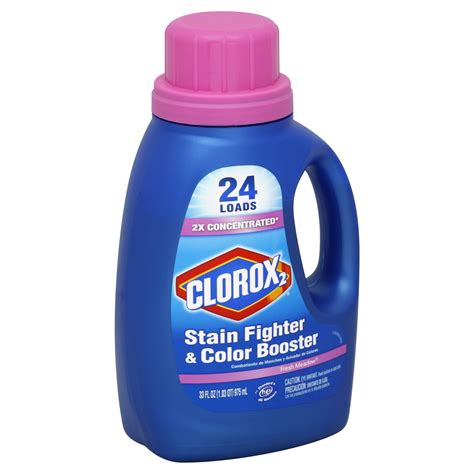 clorox stain fighter color booster fresh meadow 33 fl