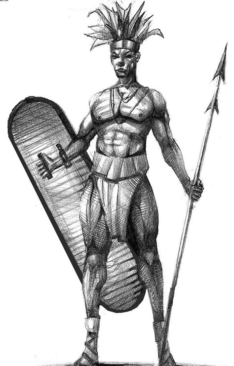 african warrior tattoos warrior warrior pencil and in color