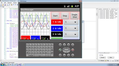 tutorial php android android oscillator application using basic4android