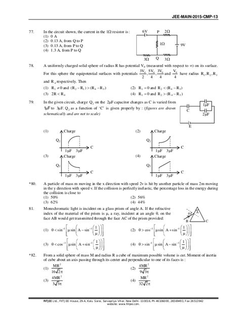 paper pattern jee main 2015 jee main 2015 question paper with solution pdf
