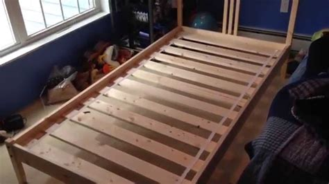 How To Put Together A Futon Wooden Frame by How To Build Assemble Put Together Fjellse Wooden