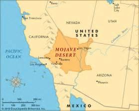 desert map mojave desert map