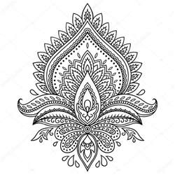 henna templates henna flower template in indian style ethnic