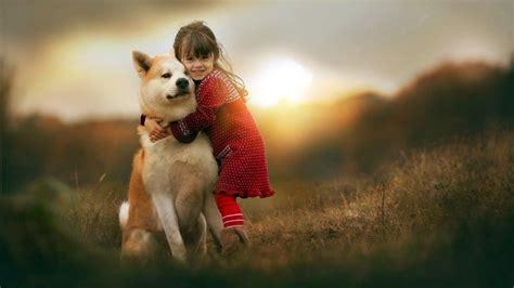 wallpaper girl dog belles fonds d 233 cran hd
