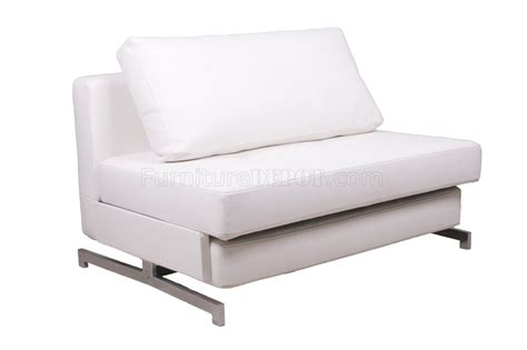 K43 1 Sofa Bed In White Leatherette By J M Furniture Leatherette Sofa Bed