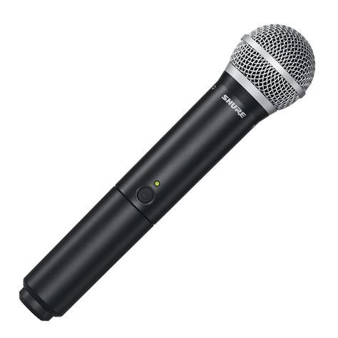 Microphone Waireless Shure Pgx288u2mic Pegang shure blx2 pg58 t11 wireless handheld microphone transmitter at gear4music