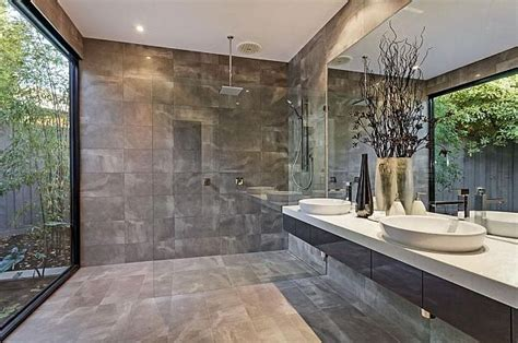Modern Bathroom Tiles Melbourne Melbourne Home Blends Luxurious Interiors With